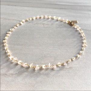 Jewelry - ✨Raw Moonstone 14K Gold Plated Rosary Choker✨